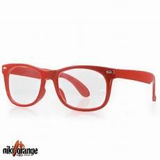 nerdbrille niki orange 174 neon wayfarer streber brille ebay