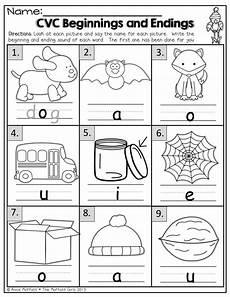 cvc beginning and endings phonics kindergarten kindergarten language arts teaching kindergarten