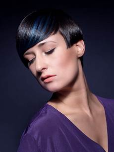 How To Shiny Black Hair slick and shiny black hair with a bright blue line