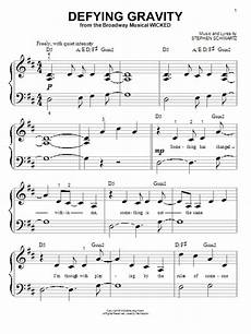 defying gravity sheet music direct