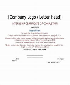 internship certificate format 10 free printable word
