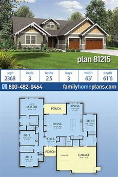 craftsman style house plan 3 beds 2 baths craftsman style house plan 81215 with 3 bed 3 bath 3 car
