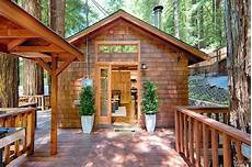 a tiny house among redwoods in sonoma county