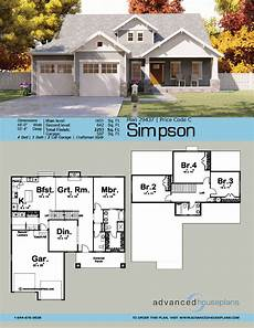 1 5 story craftsman house plan simpson craftsman house