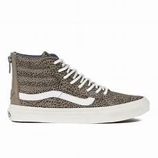 vans s sk8 hi slim zip cheetah suede hi top trainers