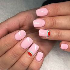 cute watermelon nails for pamela inspo