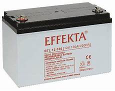 Effekta Btl 12 100 Agm Batterie Bleiakku 12v 100ah