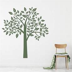 Wall Decor Stickers Tree leafy tree wall sticker birch tree wall decal nursery