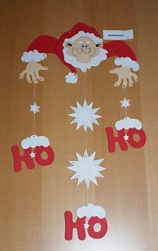 Fensterbilder Weihnachten Vorlagen Grundschule Fensterbild Weihnachtsmann Mobile Ho Ho Kette Tonkarton