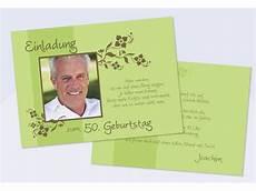 einladungskarte einladung zum runden geburtstag flachkarte