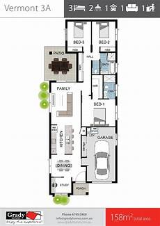 townsville builders house plans townsville builder narrow floor plan 3 bedroom with study