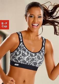 active by lascana sport bh mit trendy spitzendruck und