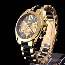 herren gold uhr gold herren damen unisex armbanduhr edelstahl uhr damenuhr