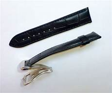 20mm Color Band by 20mm Omega Black Color Band Alligator Style With