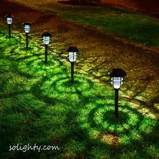 1 pack outdoor solar powered pathway lights violet led