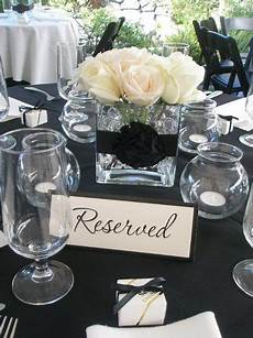 love the white floral centerpiece with black ribbon renewal ceremony in 2019 ivory wedding