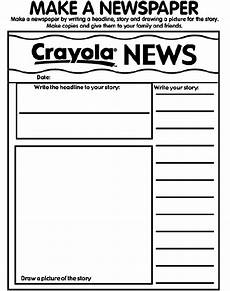 newspaper colouring pages 17708 my newspaper coloring page crayola
