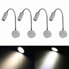 wall mounted led reading light bed bedside l flexible adjust warm white white ebay