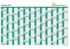 kalender 2016 in t 220 rkis a4 querformat einseitig http
