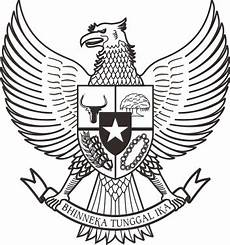 Lambang Garuda Pancasila Vektor Corel Draw