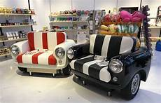 car moebel mini car sofas upcycled from the classic mini cooper