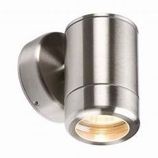 knightsbridge fixed ip65 stainless steel indoor outdoor single wall light electrical world