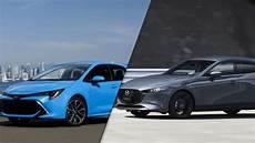 2019 mazda3 sport vs 2019 toyota corolla hatchback spec