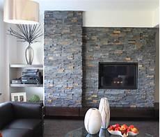 stone veneer fireplace modern living room baltimore