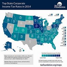 states with the lowest corporate income tax rates