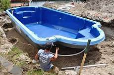 was ist fiberglas swimmingpool wie installiert vor