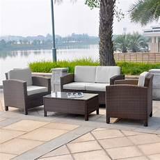 Lounge Sofa Balkon - polyrattan balkon lounge set 2x 1er lounge se real