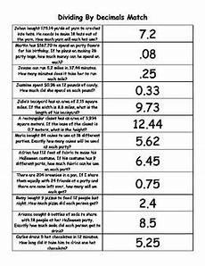 decimal word problems worksheet free 7551 dividing decimals matching and decimal on