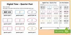time worksheets ks1 quarter past 3066 digital time quarter past worksheet activity sheet ni ks1 numeracy