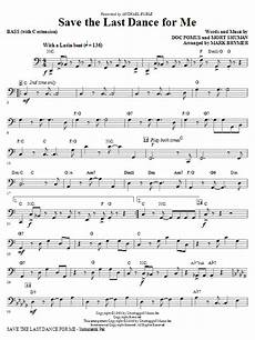 save the last dance for me bass sheet music by mark brymer choral instrumental pak 266272