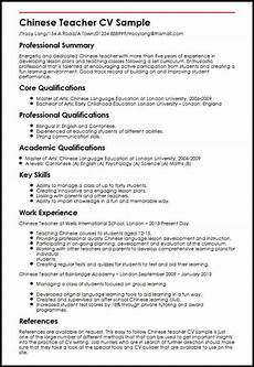 chinese teacher cv sle myperfectcv