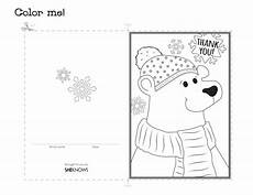 Thank You Card Template Pages by Polar Thank You Card Free Printable