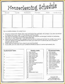 6 monthly chore chart template fabtemplatez