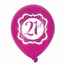 Luftballons Quot Pretty Pink Quot 21 Geburtstag 6er Pack G 252 Nstig