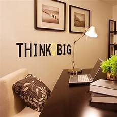 free shipping 1 set creative wall sticker quotes think big