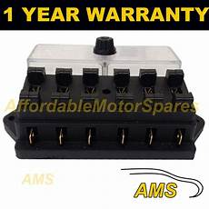 12 volt fuse box and cover new 6 way universal standard 12v 12 volt atc blade fuse box cover classic car ebay