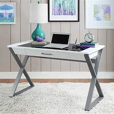 costco home office furniture bayside furnishings writing desk with tempered glass top