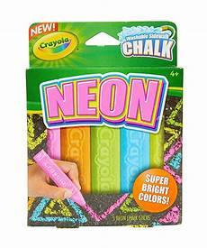 amazon com crayola washable sidewalk chalk neon chalk