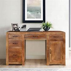home office furniture wood sedona solid mango wood home office desks with file cabinets