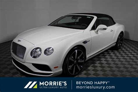 Pre-owned 2017 Bentley Continental Gt W12 2d Convertible