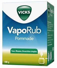 vicks vaporub toux rhume bronchite simple pommade de