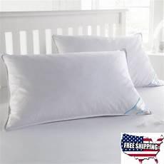 kissen set bett 2 king size goose feather bed pillows set high thread