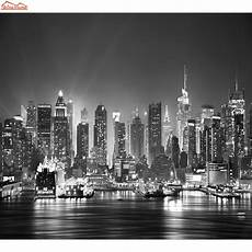 new york city mural wallpaper new york city skyline photo wallpaper black white