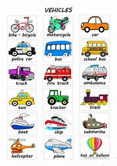 worksheets on vehicles 15217 vehicles esl worksheets for distance learning and physical classrooms