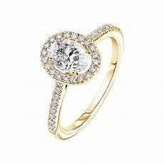 bague en bague or jaune diamant r 233 tromantique ovale pav 233 e gemmyo