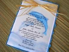 Dolphin Wedding Invitations dolphin themed wedding invitations orginal artwork by